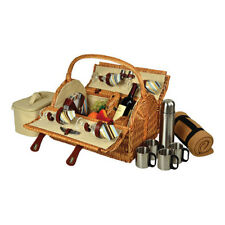 Picnic at Ascot Unisex  Yorkshire Picnic Basket for Four w/ Blanket/Coffee