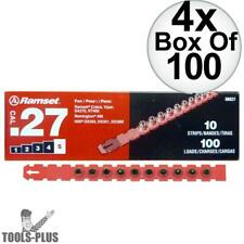 """Ramset 5RS27 4x Box of 100 #5 """"Red"""" 27 cal Strip Loads New"""