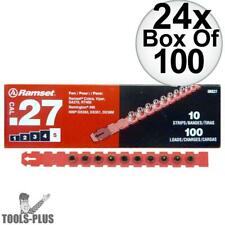 """Ramset 5RS27 24x Box of 100 #5 """"Red"""" 27 cal Strip Loads New"""