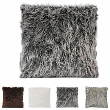 1Pcs Bedding Hotel Cushion Luxury Sofa Pillowcase Cover Fluffy Fur Pillowslip