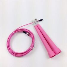 ADJUSTABLE SKIPPING HIGH SPEED BOXING CABLE WIRE JUMP SKIP ROPE CROSSFIT GYM