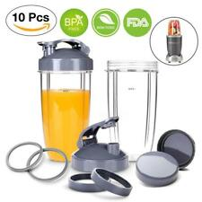 Nutribullet Replacement 32 OZ Cups with Flip Top To-Go Lid,Gaskets,Lip...