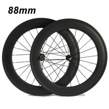 Ship From UK carbon wheelset 700c clincher 88mm Road Bike Bicycle cycling Wheel