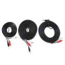 3.5MM Male Jack to AV 2 RCA Male Stereo Music Audio Cable Cord AUX 3M 5M 10M
