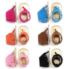 0-18M Fashion Toddler Baby Infant Tassel Sandals Kids Girl Soft Sole Shoes Flats