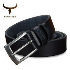 TOP COW GENUINE LEATHER MEN BELTS COLOR DESIGN JEANS BELT FOR MALE BRAND XF018