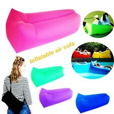 Inflatable Air Sofa Chair Lounge Chair With Pillow Portable Air Sofa For Camping
