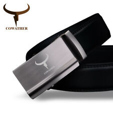 FASHION MENS BELT TOP COW GENUINE LEATHER AUTOMATIC ALLOY BUCKLE BELTS MEN CZ017