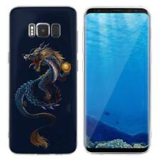 Case Cover For Samsung Galaxy S6 S7 Edge S8 S9 Plus Reptiles Dragons Dinosaurs