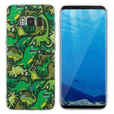 Case Cover For Samsung Galaxy S6 S7 Edge S8 S9 Plus Dinosaurs Lizards Reptiles