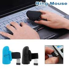 Mini Finger Mouse Wireless Bluetooth 2.4GHz USB Optical Ring Mice for Laptop PC