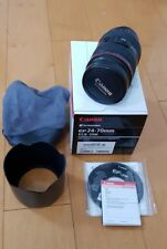 Canon 24-70mm f/2.8L USM Lens Near Mint! lens Hood, Pouch complete In Box