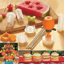 6 Shape Cake Fruit Maker Kitchen Tool Pop Chef Food Cutter Salad Gadget