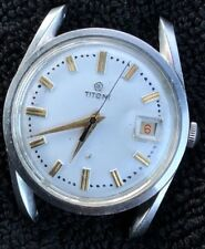 VERY RARE VINTAGE TITONI AIRMASTER CAL 2452  DATE 25 JEWELS MENS WRIST WATCH
