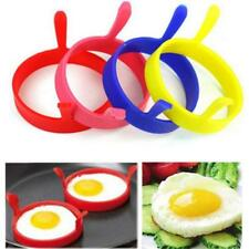4 Silicone Round Omelette Fry Egg Ring Pancake Poach Mold Kitchen Cooking Tool G
