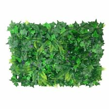 40*60cm Fake Artificial Green Wall Vertical Screen Plants Hedge Boston Ivy Mat