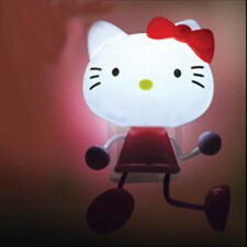 Hello Kitty Baby Girls Nursery Light Bedroom Wall Bedside Cartoon LED Night Lamp