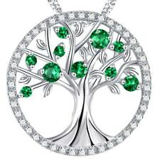 The Tree of Life Necklace Created Emerald Sterling Silver Jewelry Birthday Gift