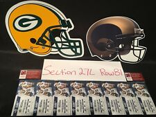 1 to 8 Tickets Los Angeles LA Rams vs Green Bay Packers 10/28 Section 27L Row 81