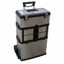 Trinity 3-in-1 Suitcase Toolbox, Stainless Steel