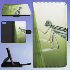 NATURE INSECT DAMSELFLY LEAF FLIP WALLET CASE FOR APPLE IPHONE PHONES