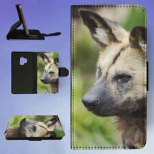 AFRICAN WILD DOG FLIP CASE COVER FOR SAMSUNG GALAXY PHONE
