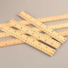 15/20/30cm Wooden Straight Ruler School Kids Stationery Office Sewing Measuring