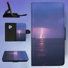 LIGHTNING OVER SEA AGAINST STORM CLOUDS FLIP CASE COVER FOR SAMSUNG GALAXY PHONE