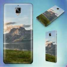 MOUNTAIN AND LAKE AT SUNSET HARD BACK CASE FOR ONEPLUS PHONES