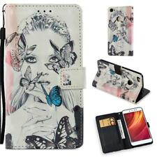 Pattern Card Holder Leather Flip Wallet Case Cover Stand For Xiaomi Redmi Phones