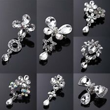 DIY Bouquet Wedding Bridal Rhinestone Brooch Pin Collar Women Elegant Jewelry