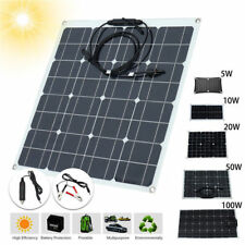 10W 20W 60W 50W 100W 5V 12V Solar Panel Battery Charger RV Boat Camping Off Grid