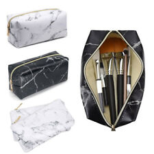 Marble Pencil Case Makeup Box School Stationery Cosmetic Makeup Pouch Zipper Bag