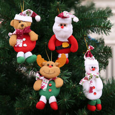 Merry Christmas Ornaments Gift Santa Snowman Toy Doll Tree Hanging Decoration