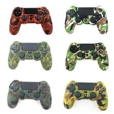 Camouflage silicone gel rubber soft skin grip cover case for ps4 controller GX