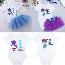 Kids Baby Girls Clothes Outfits 1st Birthday Outfits Mermaid Romper Tutu Skirt