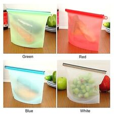 ECO Friendly, Reusable, Silicone, Sandwich, Bag, Sealed, Food, Storage, US Ship