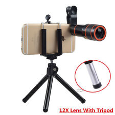 Universal 12X Zoom Mobile Phone Lens for iPhone 7 plus 6 andriod IOS Smartphones