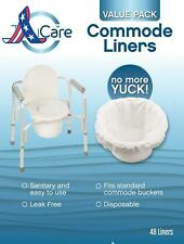 Tidycare Commode Liners – Value Pack - Disposable Bedside Commode Liners - 48