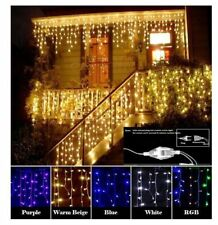 Curtain Icicle LED Lamp Xmas Wedding Window Decor String Lights Party Outdoor
