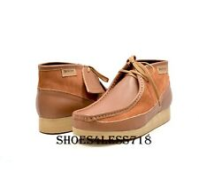 NEW MENS BRITISH WALKERS ORIGINAL EXCLUSIVE TWO TONE TAN LEATHER WALLABEES