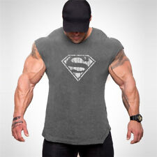 Men'S Workout Quick Dry Slim Fit Vests Screen Printing Fitness Gym Tank Top