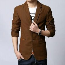 Men's Jacket Suit Stylish Design Solid Casual Trend Setter Long Sleeve Waistcoat