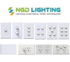 NLS Light Switch 1,2,3,4,5,6 Gang Dimmer Power Point Saturn GPO Standard Size
