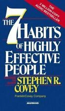 The Seven Habits of Highly Effective People by Stephen R. Covey 1989, Cassette,