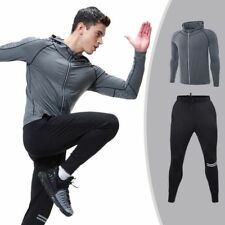 Sports Fitness Gym Training Running Zipper Coat Tracksuit Clothes Set for Men