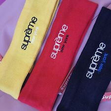 SUPREME NEW YORK New Era Fleece Headband RED BLACK YELLOW All Colors IN STOCK