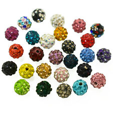 8MM Czech Crystal Pave Clay Round Disco Ball Beads Craft Jewelry Making 25Pieces