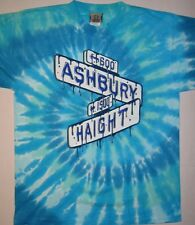 GRATEFUL DEAD-HAIGHT ASHBURY STREET SIGN-TIE DYE T SHIRT MEDIUM VINTAGE, RARE