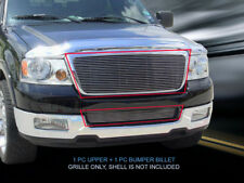 Polished Billet Grille Grill Combo Insert For Ford F-150 F150 2004-2005 (Fits: 2005 Ford F-150)